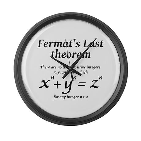 Fermat's Last Theorem Large Wall Clock