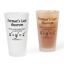 Fermat's Last Theorem Drinking Glass