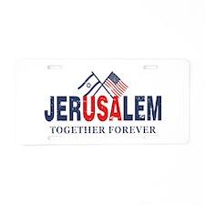 Jerusalem Aluminum License Plate