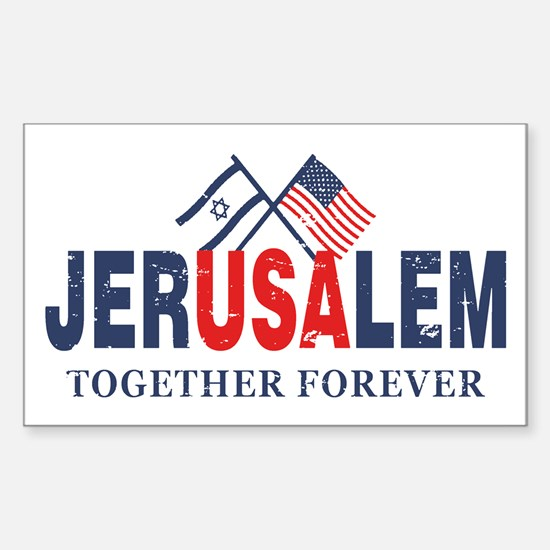 Jerusalem Sticker (Rectangle)