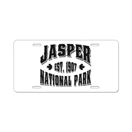 Jasper Old Style Black Aluminum License Plate