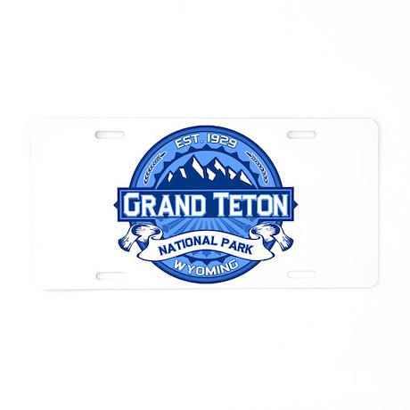 Grand Teton Cobalt Aluminum License Plate