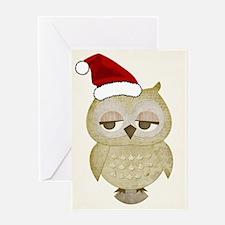 Santa Owl Greeting Card