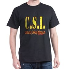 C.S.I.: Constantly Seeking Information Black T-Shi