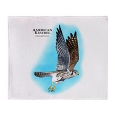 American Kestrel Throw Blanket