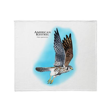 American Kestrel Throw Blanket