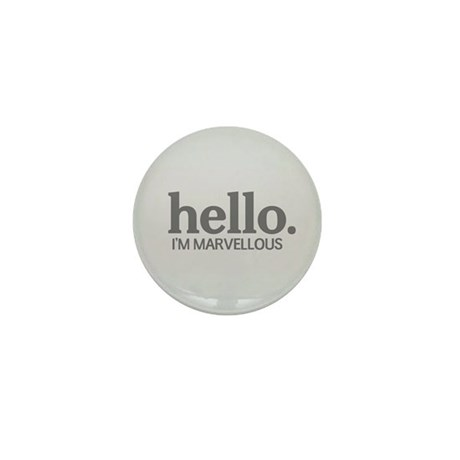 Hello I'm marvellous Mini Button (10 pack)