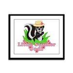 Little Stinker Jodi Framed Panel Print