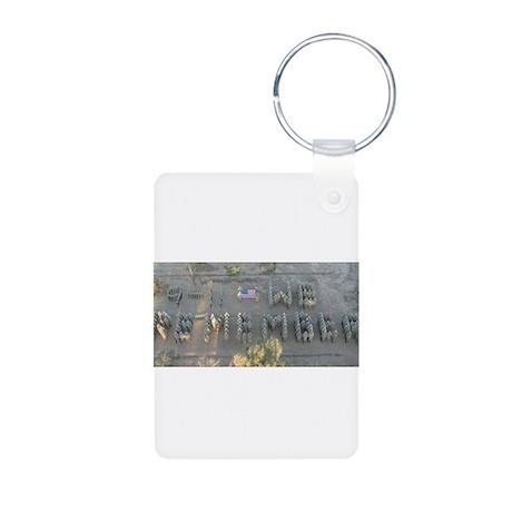 9-11 Tribute Aluminum Photo Keychain