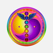 """Chakra Mandala 3.5"""" Button"""