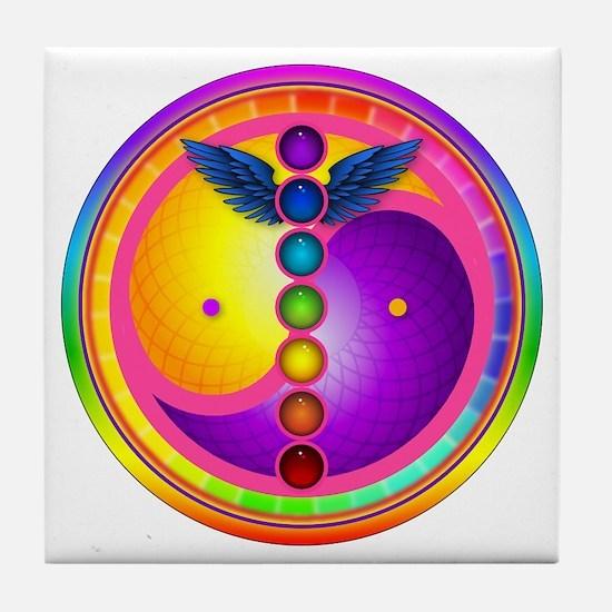 Chakra Mandala Tile Coaster