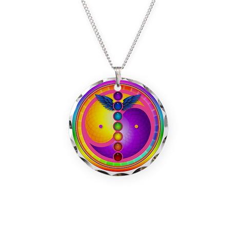 Chakra Mandala Necklace Circle Charm