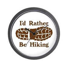 Rather Be Hiking Wall Clock