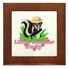Little Stinker Judy Framed Tile