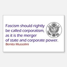Fascism Rectangle Decal