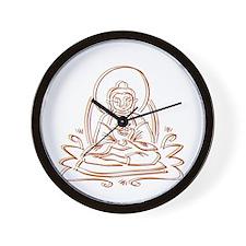 Buddha Silhouette Gifts Wall Clock