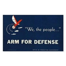 Arm for Defense Rectangle Decal
