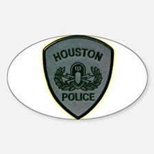 Houston Police E.O.D. Sticker (Oval)