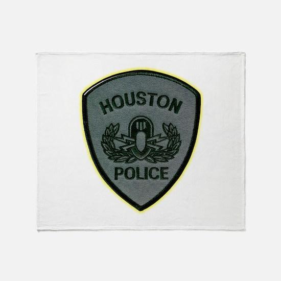 Houston Police E.O.D. Throw Blanket