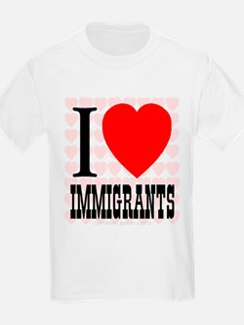 I Love Immigrants Kids T-Shirt