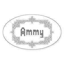 """""""Celtic Knots Ammy"""" Oval Decal"""