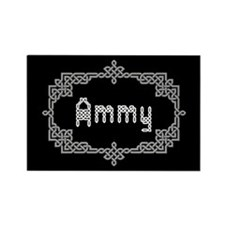 """Celtic Knots Ammy"" Rectangle Magnet"