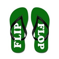 Custom Kelly Green Flip Flops