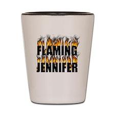 Custom flaming shot glasses Shot Glass - Jennifer