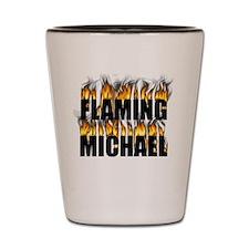 Custom flaming shot glasses Shot Glass - Michael