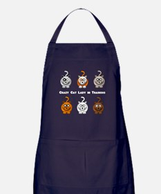 Crazy Cat Lady In Training Apron (dark)