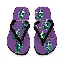 Buoy Bitch purple Flip Flops