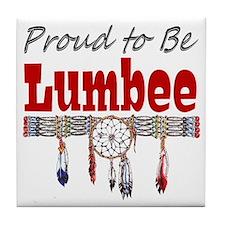Proud to be Lumbee Tile Coaster