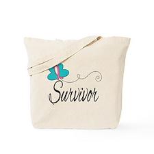 H. Breast Cancer Survivor Tote Bag