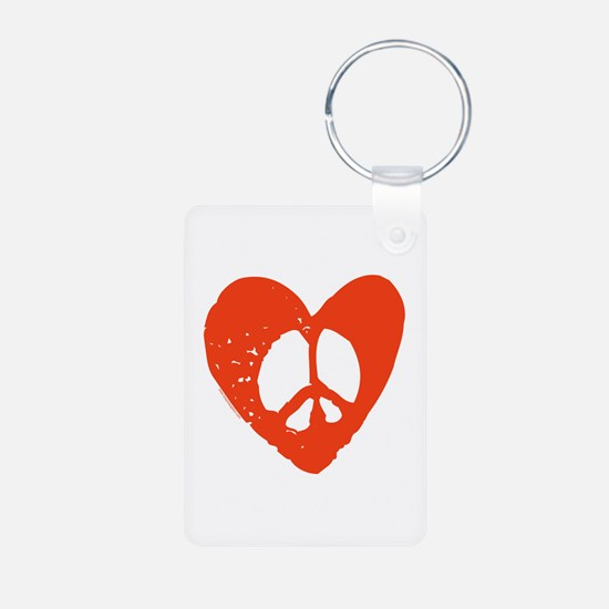 Peace & Love Keychains