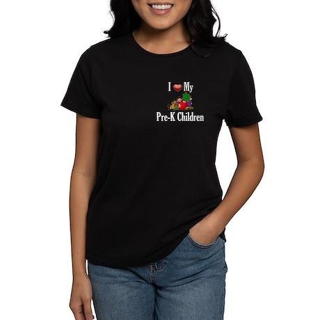 I Love My Pre-K Kids Women's Dark T-Shirt