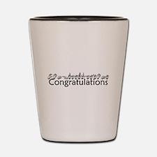 Congratulations Shot Glass