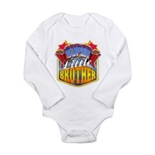 Super Little Brother Long Sleeve Infant Bodysuit