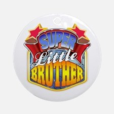 Super Little Brother Ornament (Round)