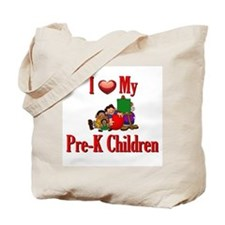 I Love My Pre-K Kids Tote Bag