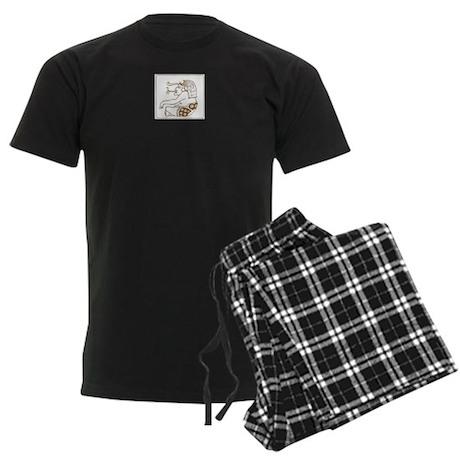 Maya Cigar Smoker Brown Men's Dark Pajamas