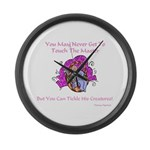 The Master's Creatures Gifts Large Wall Clock