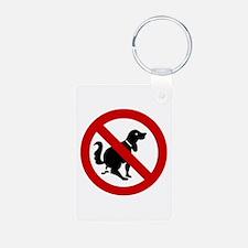 No Dog Poop Sign Keychains