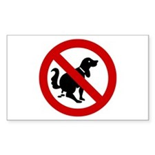 No Dog Poop Sign Decal