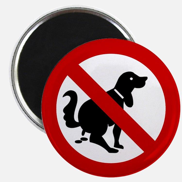 No Dog Poop Sign Magnet