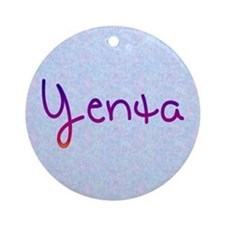Yenta Ornament (Round)