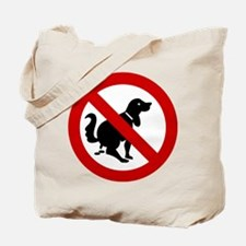 No Dog Poop Sign Tote Bag