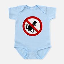 No Dog Poop Sign Infant Bodysuit