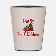 I Love My Pre-K Students Shot Glass