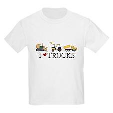 I Love Trucks Kids T-Shirt
