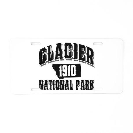 Glacier Old Style Black Aluminum License Plate